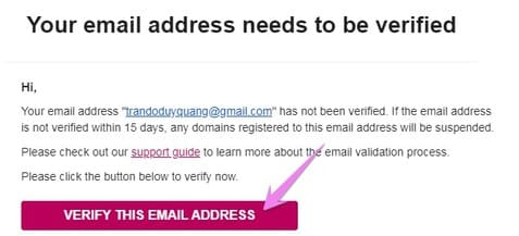 VERIFY THIS EMAIL ADDRESS