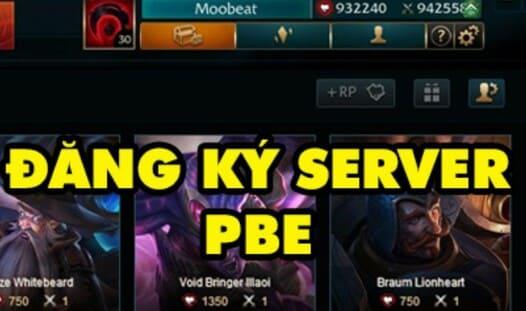 đăng ký server PBE