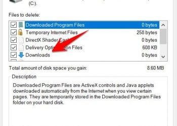 Microsoft đã xóa thư mục Download khỏi Disk Cleanup